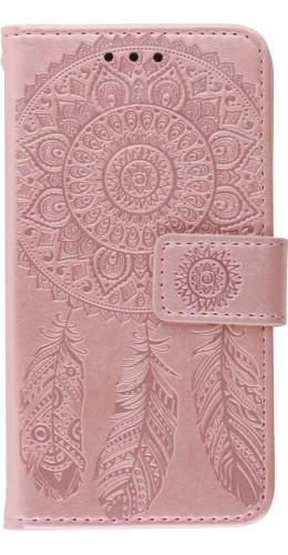 Coque iPhone 12 Pro Max - Flip Dreamcatcher rose clair