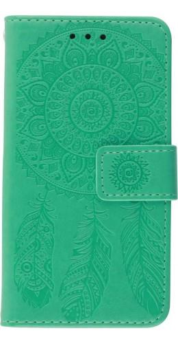 Coque iPhone 12 Pro Max - Flip Dreamcatcher vert menthe