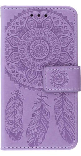 Coque iPhone 12 Pro Max - Flip Dreamcatcher violet
