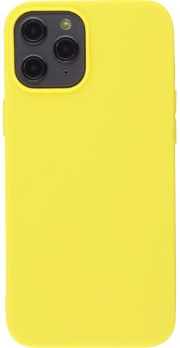 Coque iPhone 12 Pro Max - Silicone mat jaune