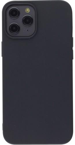 Coque iPhone 12 Pro Max - Silicone Mat noir