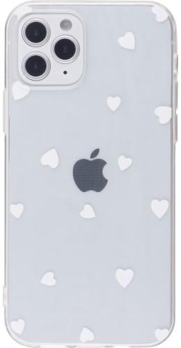 Coque iPhone 12 Pro Max - Gel petit coeur blanc