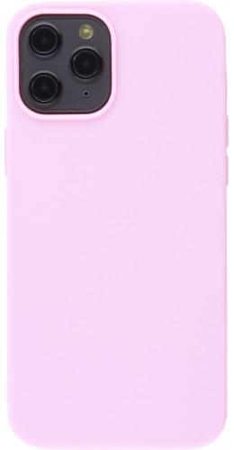 Coque iPhone 12 Pro Max - Silicone Mat rose clair