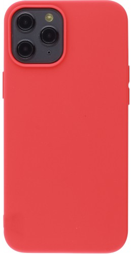Coque iPhone 12 Pro Max - Silicone Mat rouge