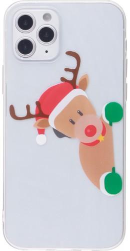 Coque iPhone 12 Pro Max - Gel transparent Noël renne