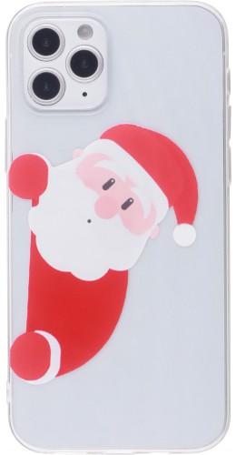 Coque iPhone 12 Pro Max - Gel transparent Noël santa