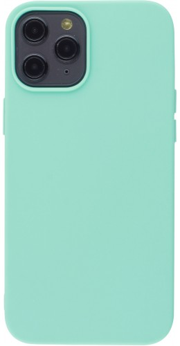 Coque iPhone 12 Pro Max - Silicone Mat turquoise