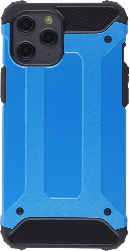 Coque iPhone 12 Pro Max - Hybrid carbon bleu