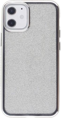 Coque iPhone 12 mini - Bumper Diamond strass argent