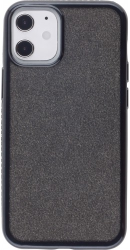 Coque iPhone 12 mini - Bumper Diamond strass noir