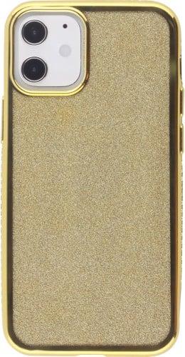Coque iPhone 12 / 12 Pro - Bumper Diamond strass or