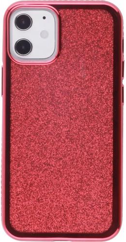 Coque iPhone 12 mini - Bumper Diamond strass rouge