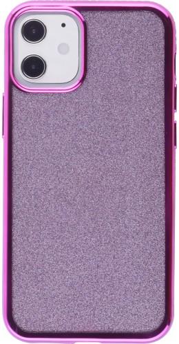 Coque iPhone 12 mini - Bumper Diamond strass violet