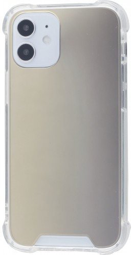 Coque iPhone 12 mini - Bumper Miroir or