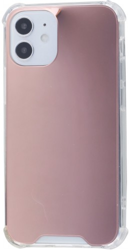 Coque iPhone 12 mini - Bumper Miroir rose