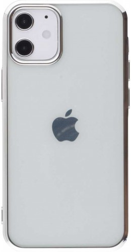Coque iPhone 12 mini - Electroplate argent