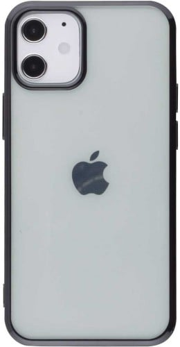 Coque iPhone 12 mini - Electroplate noir