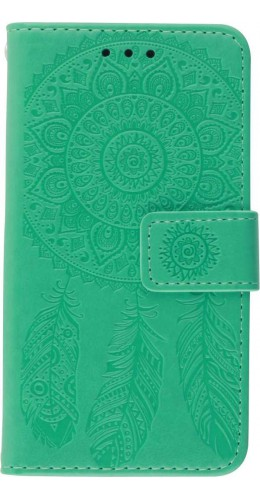 Coque iPhone 12 mini - Flip Dreamcatcher vert menthe