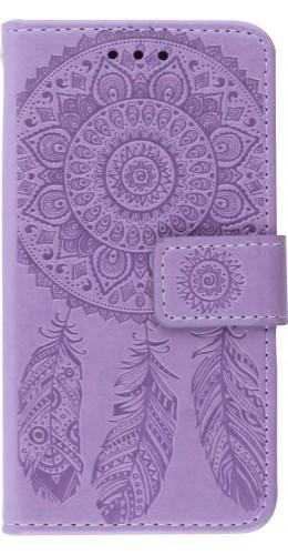 Coque iPhone 12 mini - Flip Dreamcatcher violet