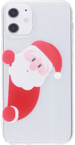 Coque iPhone 12 mini - Gel transparent Noël santa
