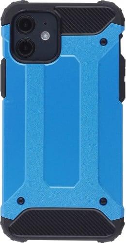 Coque iPhone 12 / 12 Pro - Hybrid carbon bleu