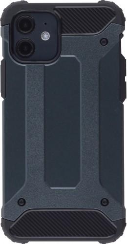 Coque iPhone 12 mini - Hybrid carbon gris