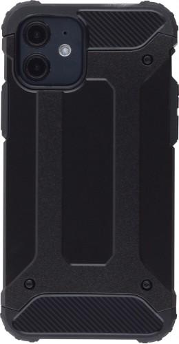Coque iPhone 12 mini - Hybrid carbon noir