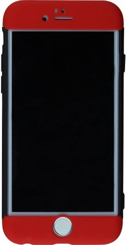 Coque iPhone 6/6s - 360° Full Body noir rouge