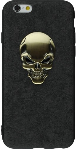 Coque iPhone 6/6s - Gold Skull noir