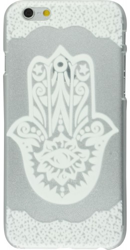 Coque iPhone 6/6s - Henna White Hamsa
