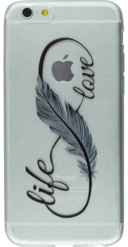 Coque Samsung Galaxy S6 edge - Live Feather love