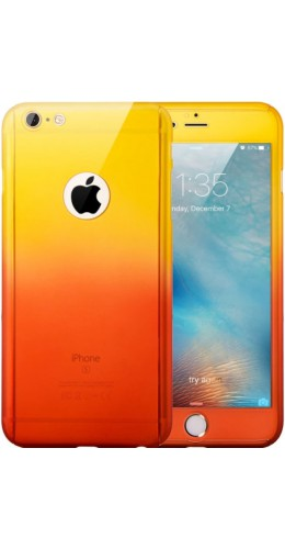 Coque iPhone 7 Plus / 8 Plus - 360° Full Body Gradient jaune orange