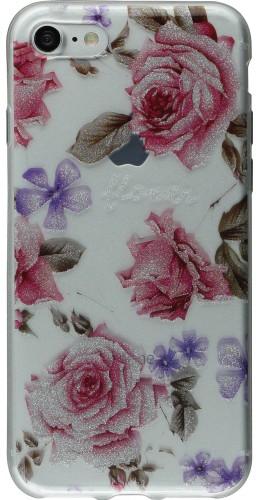 Coque iPhone 7 / 8 - Gel Shine roses