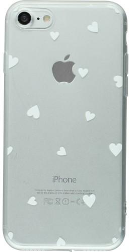 Coque iPhone 7 / 8 - Gel petit coeur blanc