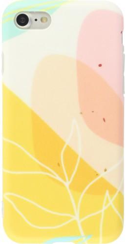 Coque iPhone 7 / 8 / SE (2020) - Abstract Art jaune