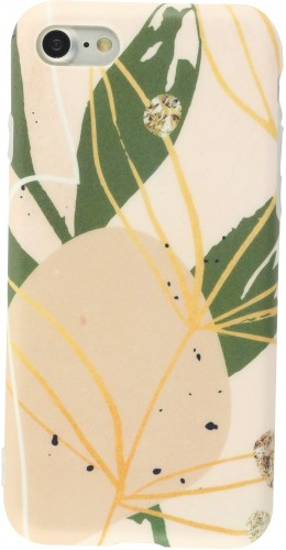 Coque iPhone 7 / 8 / SE (2020) - Abstract Art rose
