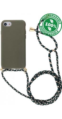 Coque iPhone Xs Max - Bio Eco-Friendly Lacet vert foncé