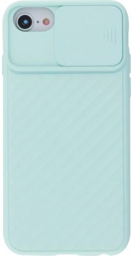 Coque iPhone 7 / 8 / SE (2020) - Caméra Clapet turquoise