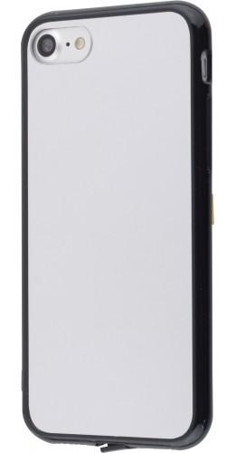 Coque iPhone 7 / 8 / SE (2020) - Miroir bords en silicone noirs