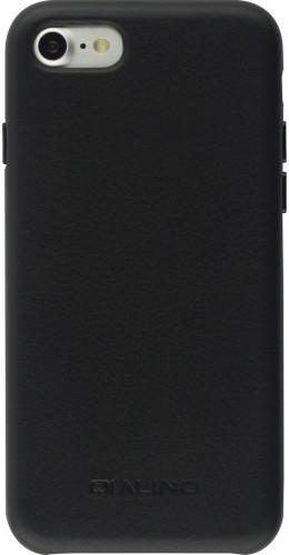 Coque iPhone 7 / 8 / SE (2020) - Qialino cuir véritable noir