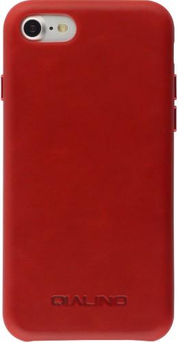 Coque iPhone 7 / 8 / SE (2020) - Qialino cuir véritable rouge