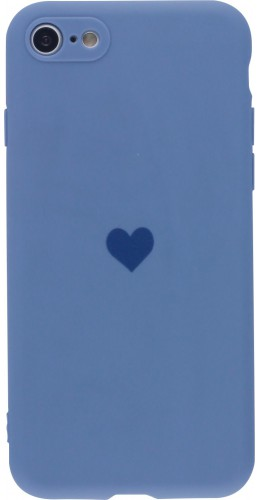 Coque iPhone 7 / 8 / SE (2020) - Silicone Mat Coeur lavande