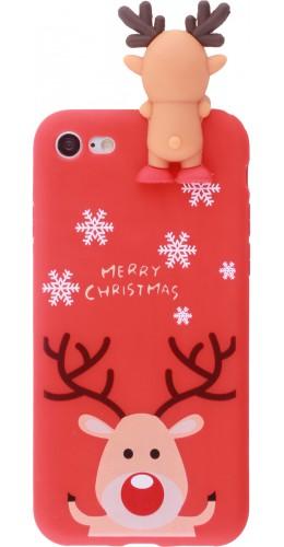 Coque iPhone 7 Plus / 8 Plus - Silicone Noël renne 3D