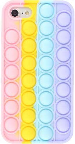 Coque iPhone 7 / 8 / SE (2020) - Silicone jeu éclate bulles anti-stress arc-en-ciel