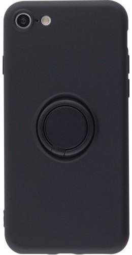 Coque iPhone 7 / 8 / SE (2020) - Soft Touch avec anneau noir