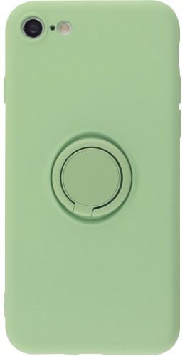 Coque iPhone 7 / 8 / SE (2020) - Soft Touch avec anneau vert clair