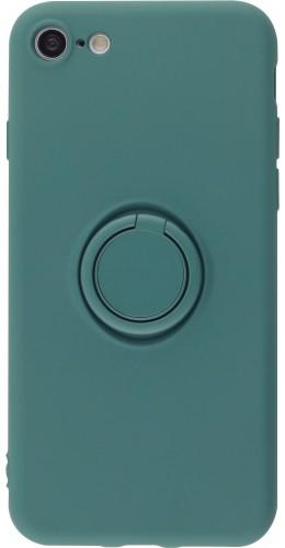 Coque iPhone 7 / 8 / SE (2020) - Soft Touch avec anneau vert foncé