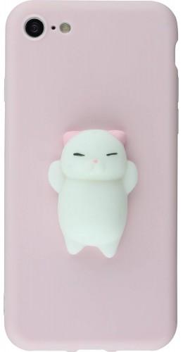 Coque iPhone 7 / 8 - Squishy Cat rose