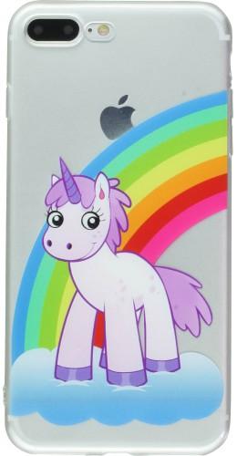 Coque iPhone 7 Plus / 8 Plus - Clear Licorne cloud
