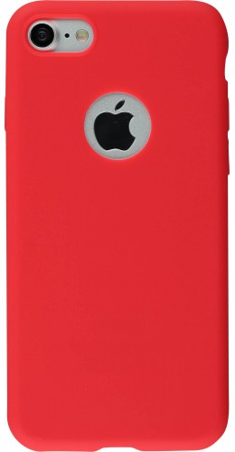 Coque iPhone 7 / 8 - Silicone Mat rouge